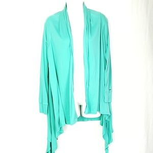 Volcom long cardigan, mint tone, size Large.